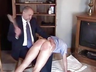 Daddy Spank Boy Across His Knees