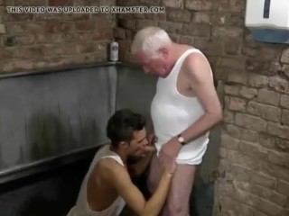 Teen Twink Fucks Very Old Man Then Swallows His Spunk